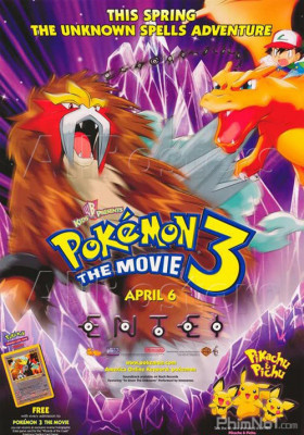 Phim Pokemon Movie 3: Đế Vương Của Tháp Pha Lê Entei - Pokemon 3: The Movie (2000)